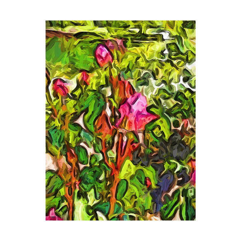 The Pink Rosebud in the Sea of Green Leaves by jackievano's Artist Shop