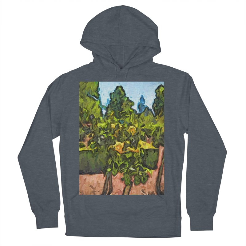 The Yellow Roses and the Green Trees Men's Pullover Hoody by jackievano's Artist Shop
