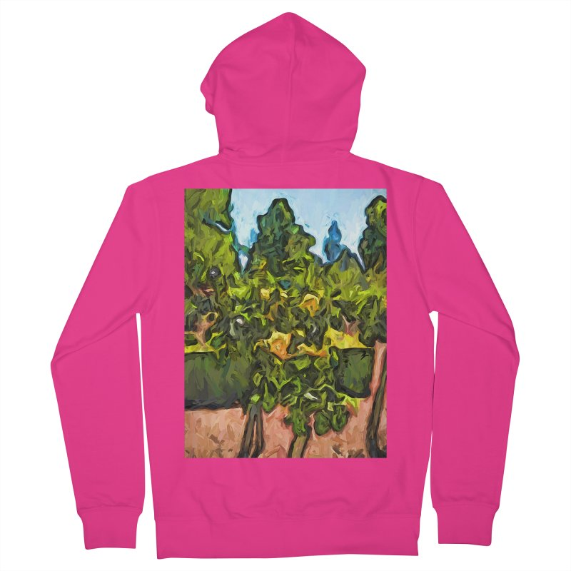 The Yellow Roses and the Green Trees Men's Zip-Up Hoody by jackievano's Artist Shop