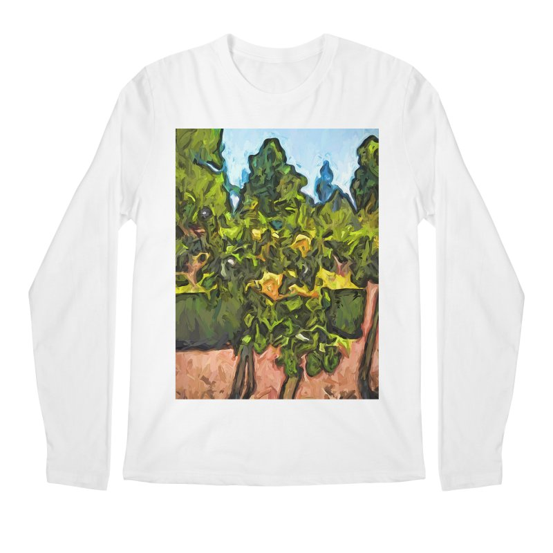 The Yellow Roses and the Green Trees Men's Longsleeve T-Shirt by jackievano's Artist Shop