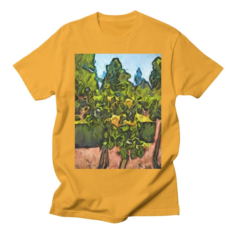 The Yellow Roses and the Green Trees Men's T-Shirt by jackievano's Artist Shop