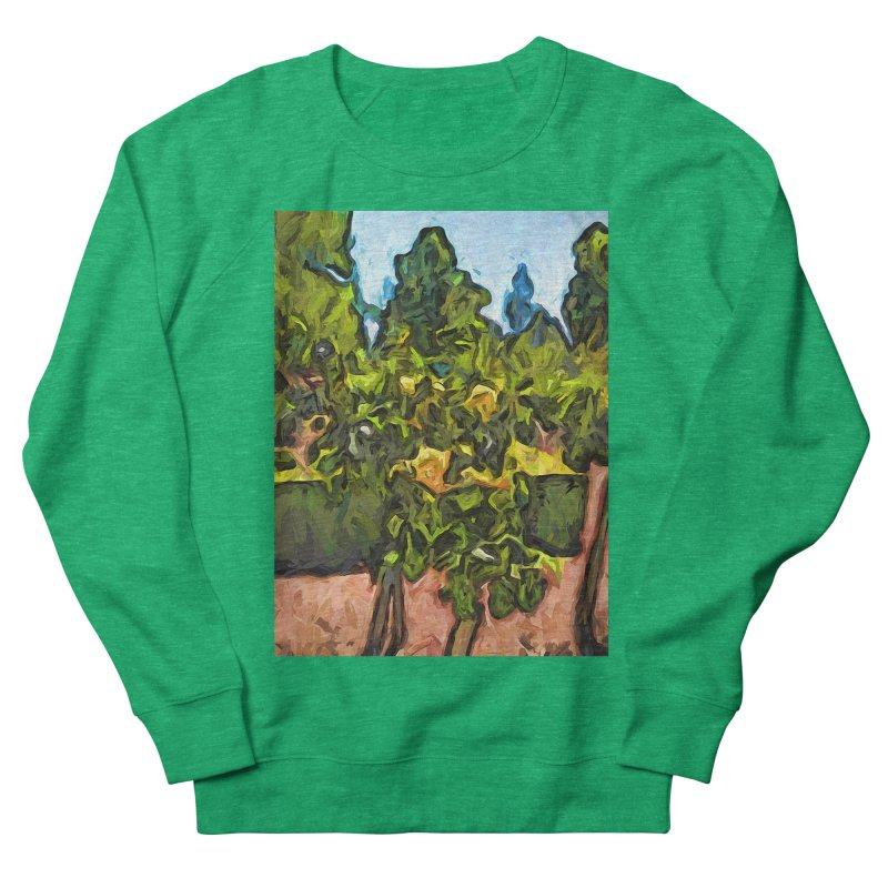 The Yellow Roses and the Green Trees Men's Sweatshirt by jackievano's Artist Shop