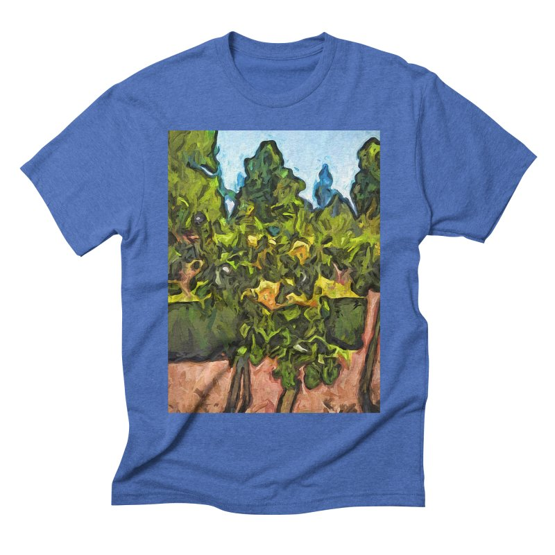 The Yellow Roses and the Green Trees Men's Triblend T-Shirt by jackievano's Artist Shop