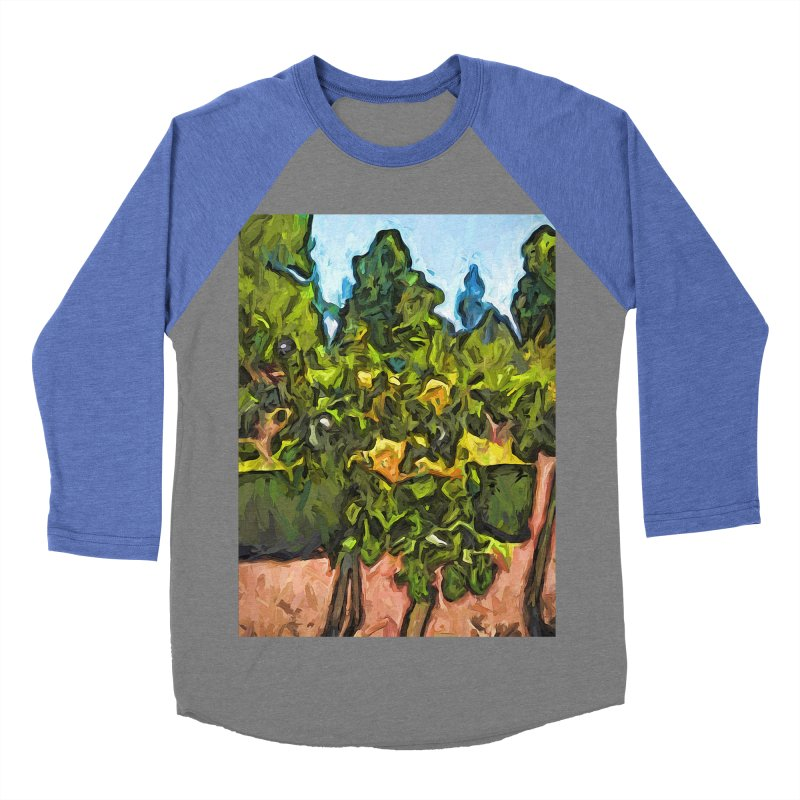 The Yellow Roses and the Green Trees Women's Baseball Triblend T-Shirt by jackievano's Artist Shop