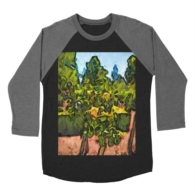 The Yellow Roses and the Green Trees Men's Baseball Triblend T-Shirt by jackievano's Artist Shop