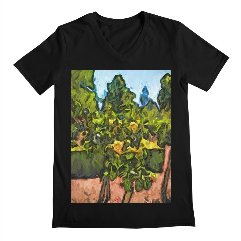 The Yellow Roses and the Green Trees Men's V-Neck by jackievano's Artist Shop