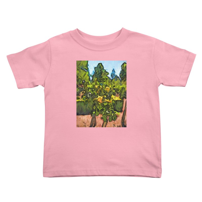 The Yellow Roses and the Green Trees Kids Toddler T-Shirt by jackievano's Artist Shop