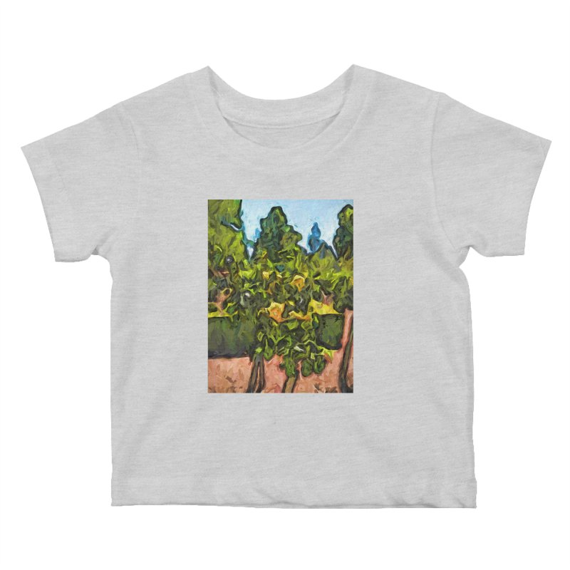 The Yellow Roses and the Green Trees Kids Baby T-Shirt by jackievano's Artist Shop