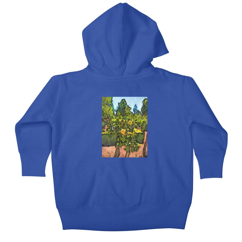 The Yellow Roses and the Green Trees Kids Baby Zip-Up Hoody by jackievano's Artist Shop