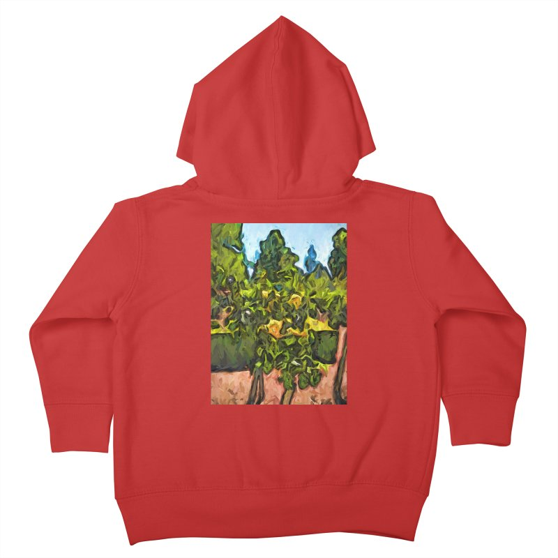 The Yellow Roses and the Green Trees Kids Toddler Zip-Up Hoody by jackievano's Artist Shop