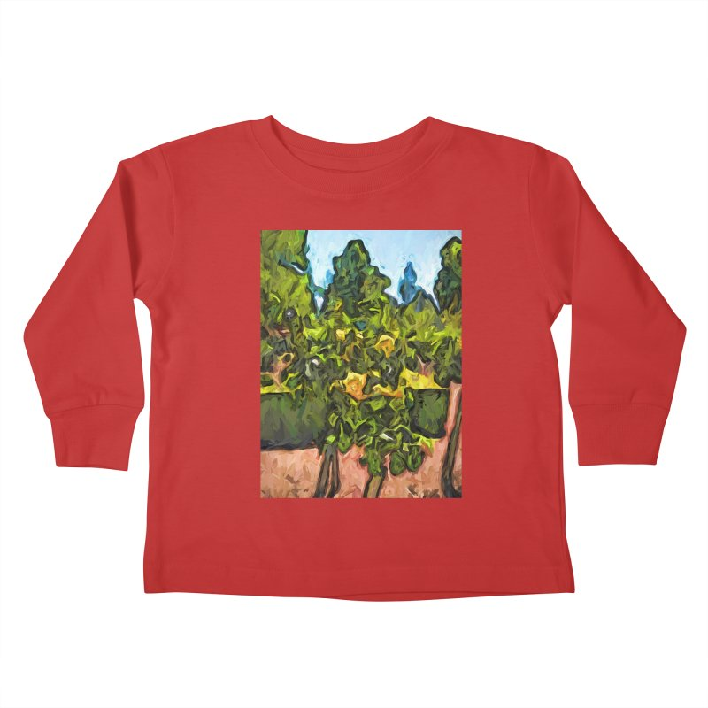 The Yellow Roses and the Green Trees Kids Toddler Longsleeve T-Shirt by jackievano's Artist Shop