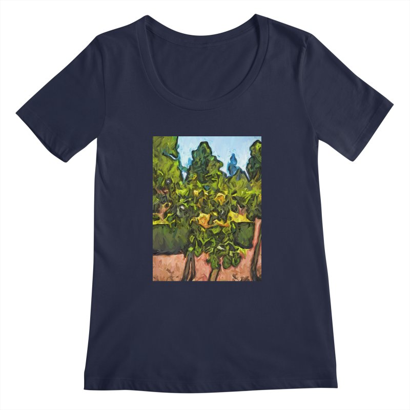 The Yellow Roses and the Green Trees Women's Scoopneck by jackievano's Artist Shop