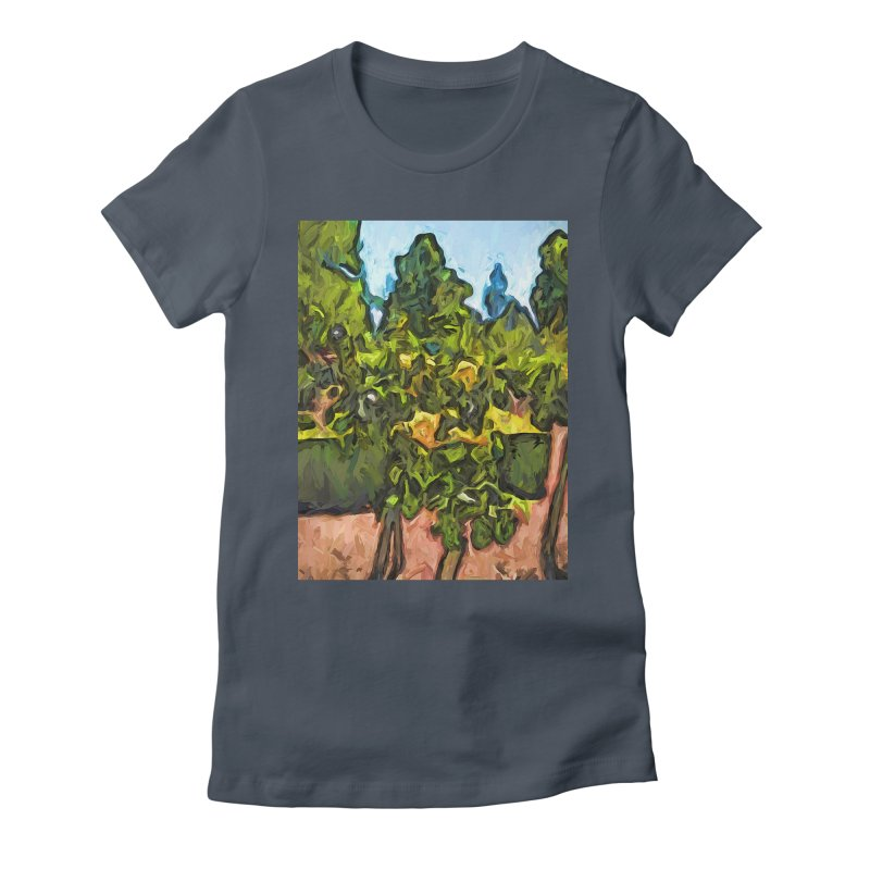 The Yellow Roses and the Green Trees Women's Fitted T-Shirt by jackievano's Artist Shop