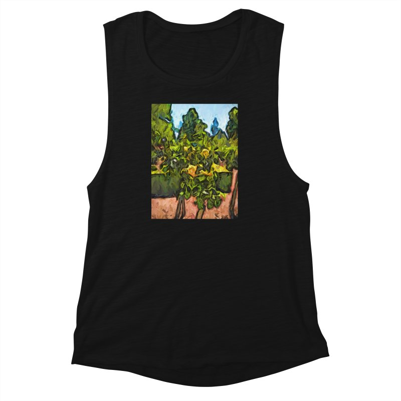 The Yellow Roses and the Green Trees Women's Muscle Tank by jackievano's Artist Shop