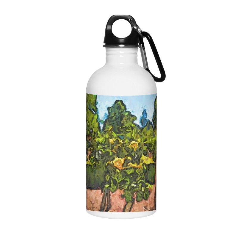 The Yellow Roses and the Green Trees Accessories Water Bottle by jackievano's Artist Shop