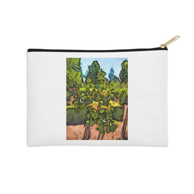 The Yellow Roses and the Green Trees Accessories Zip Pouch by jackievano's Artist Shop