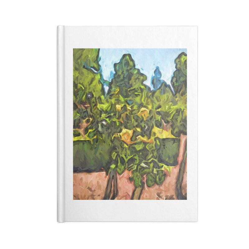 The Yellow Roses and the Green Trees Accessories Notebook by jackievano's Artist Shop
