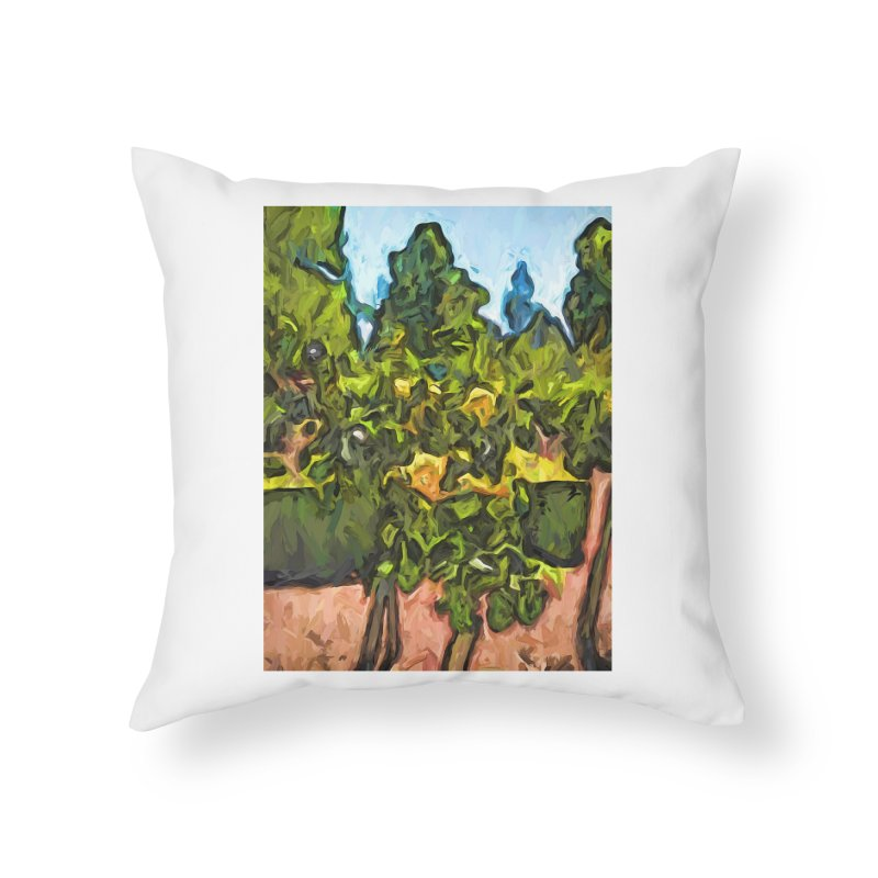 The Yellow Roses and the Green Trees Home Throw Pillow by jackievano's Artist Shop
