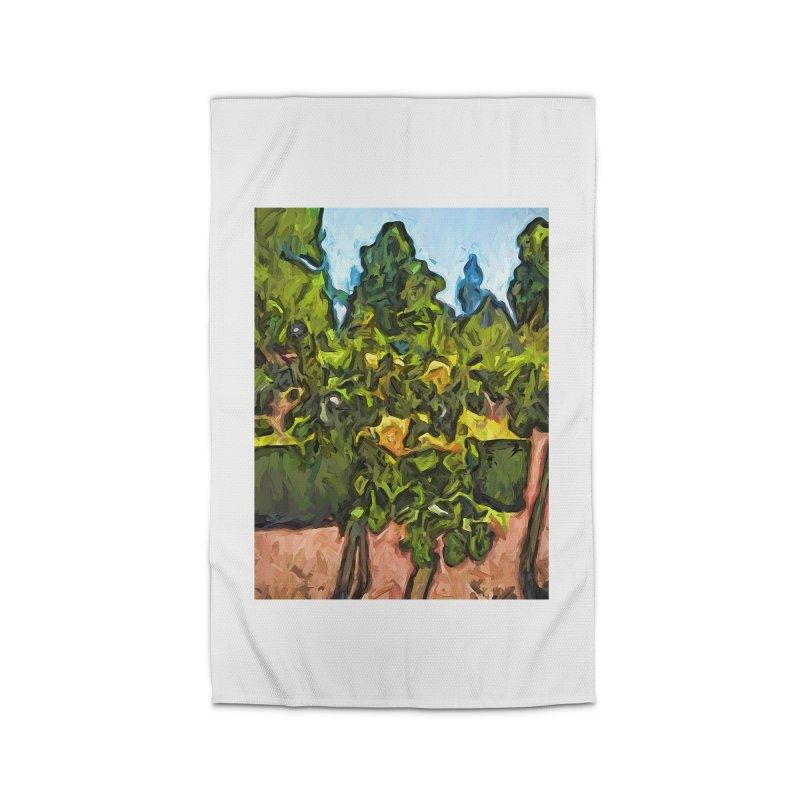 The Yellow Roses and the Green Trees Home Rug by jackievano's Artist Shop