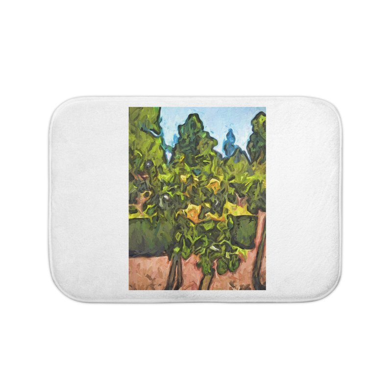 The Yellow Roses and the Green Trees Home Bath Mat by jackievano's Artist Shop