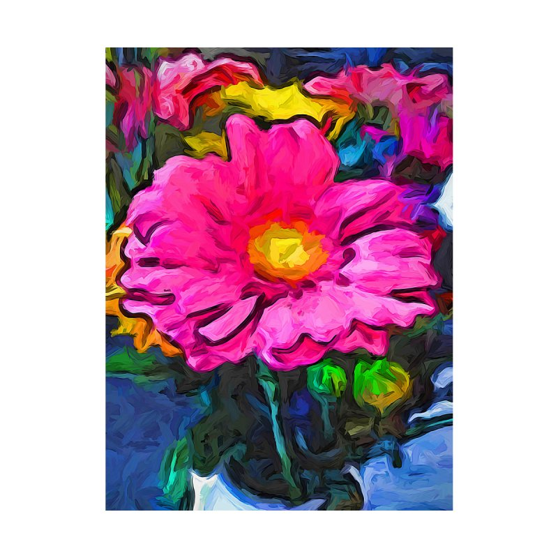 The Pink and Yellow Flower by jackievano's Artist Shop