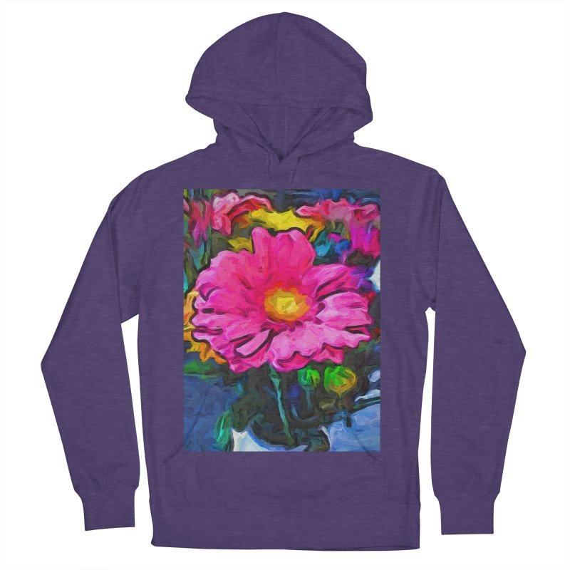The Pink and Yellow Flower Men's Pullover Hoody by jackievano's Artist Shop