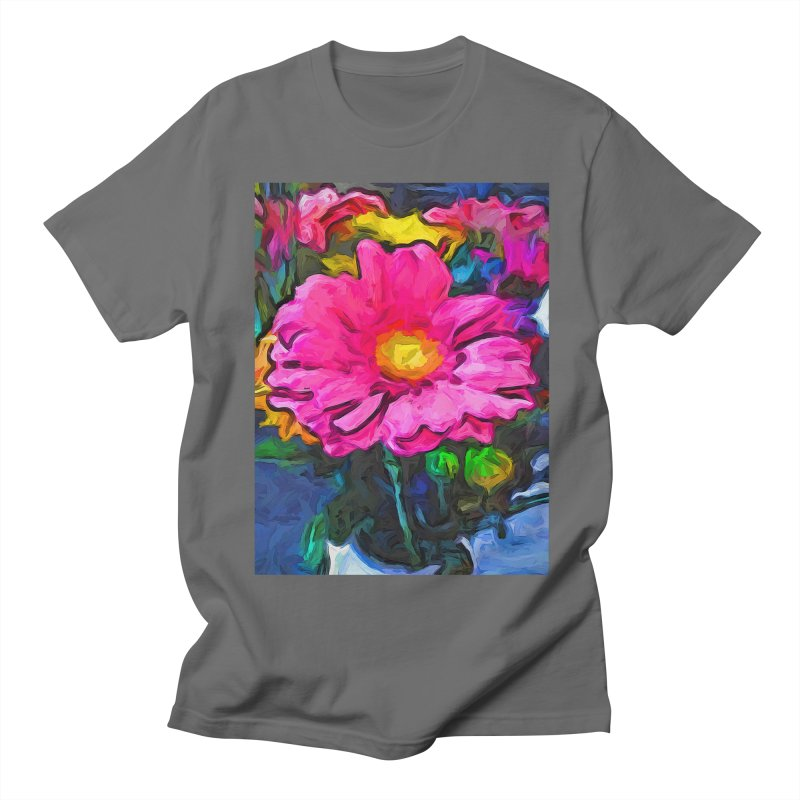 The Pink and Yellow Flower Men's T-Shirt by jackievano's Artist Shop
