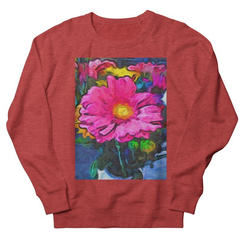 The Pink and Yellow Flower Men's Sweatshirt by jackievano's Artist Shop