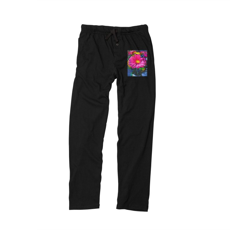 The Pink and Yellow Flower Men's Lounge Pants by jackievano's Artist Shop