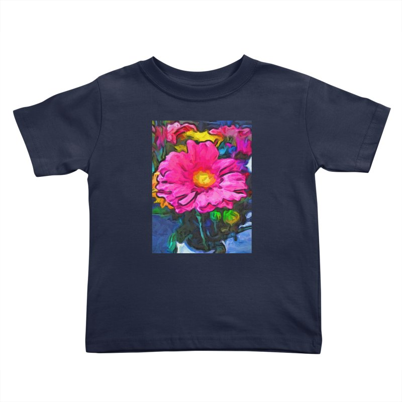 The Pink and Yellow Flower Kids Toddler T-Shirt by jackievano's Artist Shop