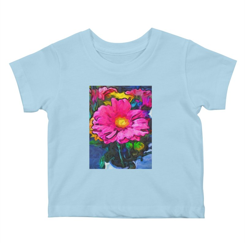 The Pink and Yellow Flower Kids Baby T-Shirt by jackievano's Artist Shop