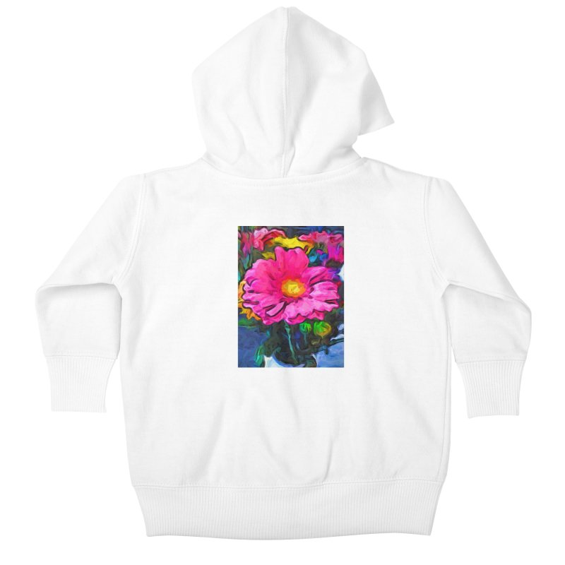 The Pink and Yellow Flower Kids Baby Zip-Up Hoody by jackievano's Artist Shop