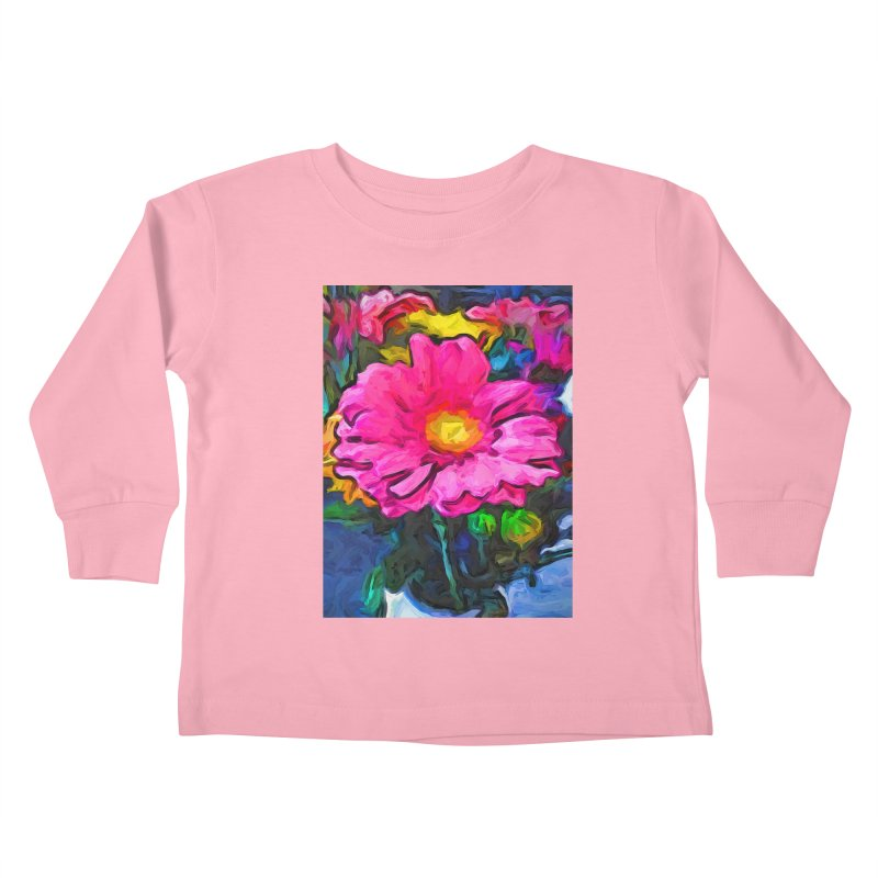 The Pink and Yellow Flower Kids Toddler Longsleeve T-Shirt by jackievano's Artist Shop