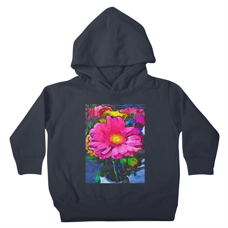 The Pink and Yellow Flower Kids Toddler Pullover Hoody by jackievano's Artist Shop