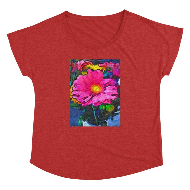 The Pink and Yellow Flower Women's Dolman by jackievano's Artist Shop