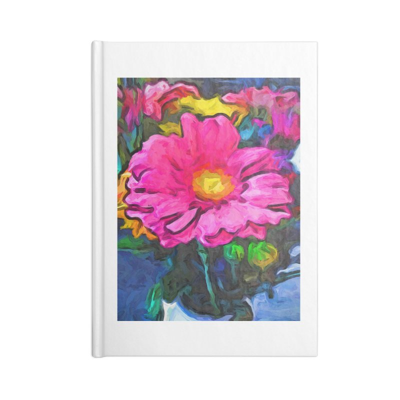 The Pink and Yellow Flower Accessories Notebook by jackievano's Artist Shop