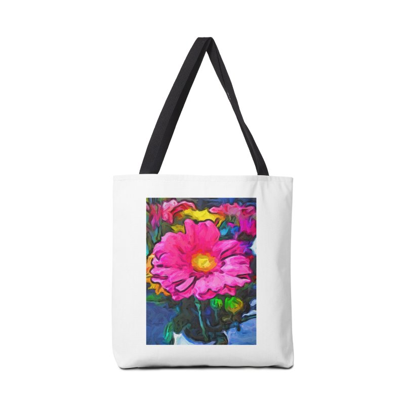 The Pink and Yellow Flower Accessories Bag by jackievano's Artist Shop
