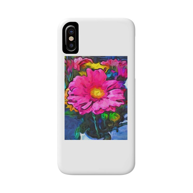 The Pink and Yellow Flower Accessories Phone Case by jackievano's Artist Shop