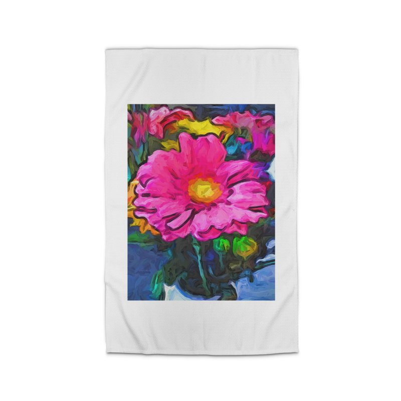The Pink and Yellow Flower Home Rug by jackievano's Artist Shop