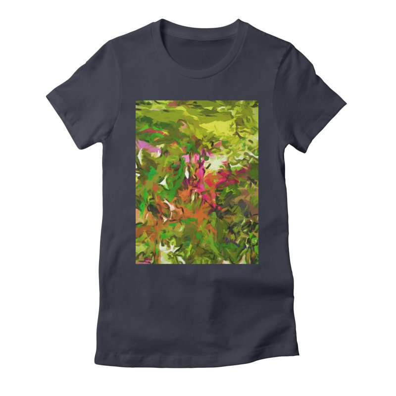 The Rosebud Women's Fitted T-Shirt by jackievano's Artist Shop