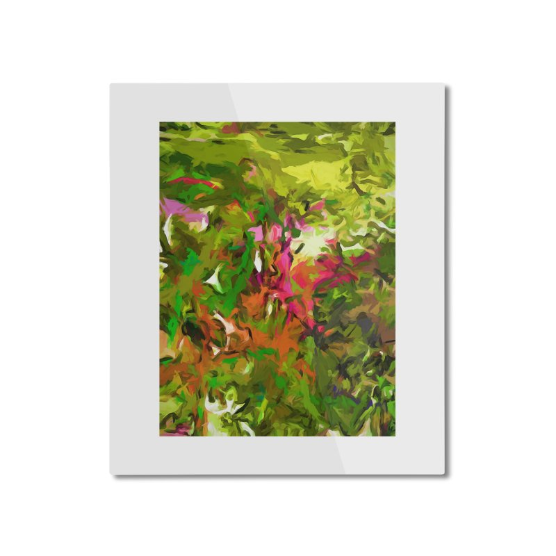 The Rosebud Home Mounted Aluminum Print by jackievano's Artist Shop