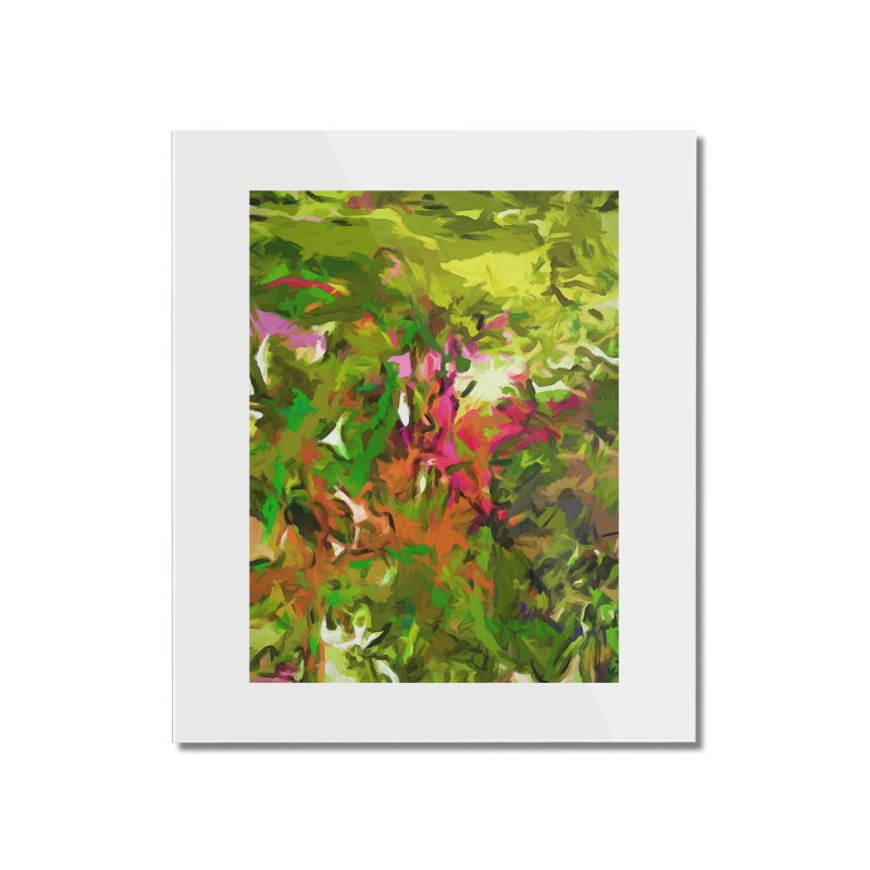 The Rosebud Home Mounted Acrylic Print by jackievano's Artist Shop