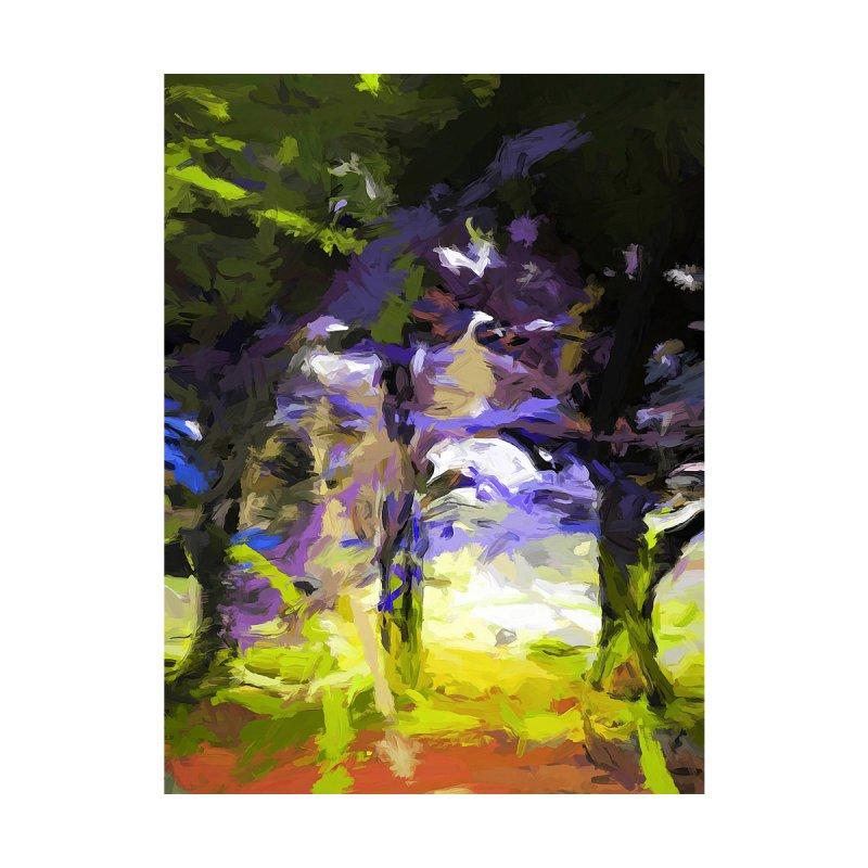 Tree Avenue Lavender Lilac Green by jackievano's Artist Shop