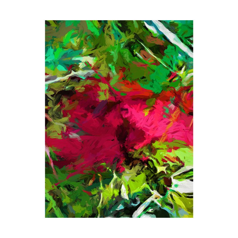 Flower Christmas Red Green Pink by jackievano's Artist Shop
