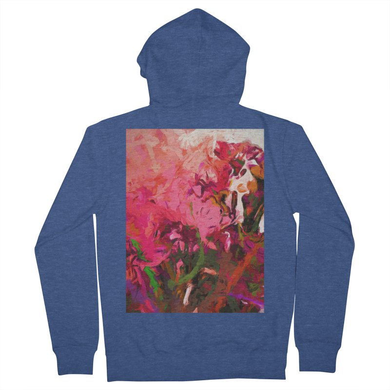 Flower Flames Soul Pink Women's French Terry Zip-Up Hoody by jackievano's Artist Shop