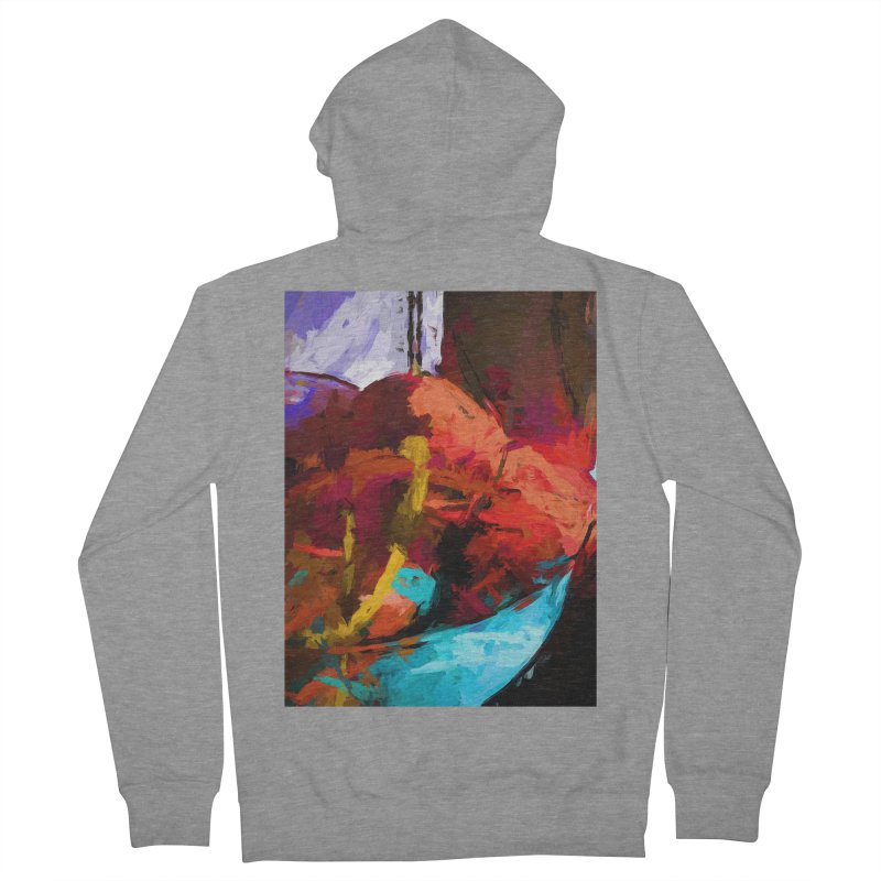 Rainbow Apples Red Graffiti Yellow Women's French Terry Zip-Up Hoody by jackievano's Artist Shop