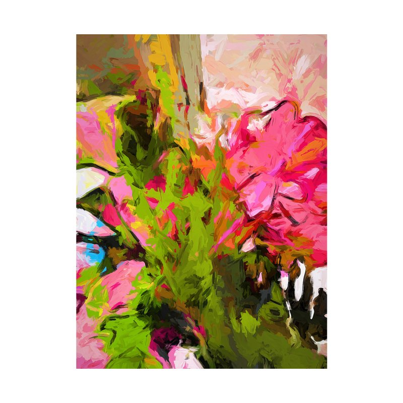 Flower Ecstasy Pink Tropical Green by jackievano's Artist Shop