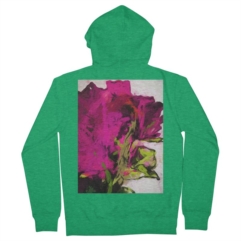 Rose Romantica Magenta Pink Women's French Terry Zip-Up Hoody by jackievano's Artist Shop