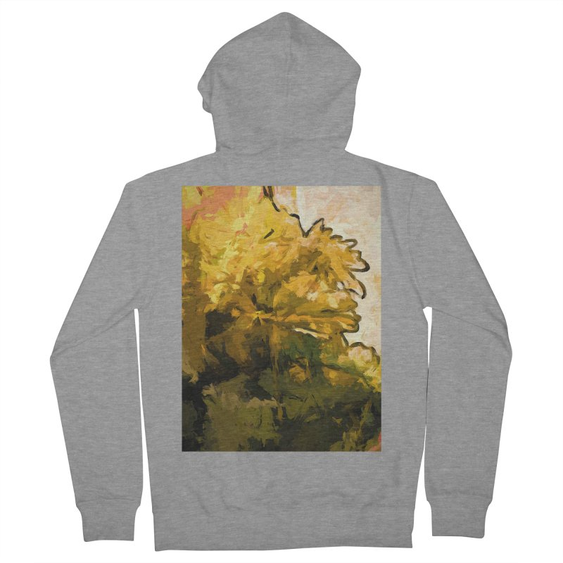 Flower Fresh Sunshine Yellow Women's French Terry Zip-Up Hoody by jackievano's Artist Shop