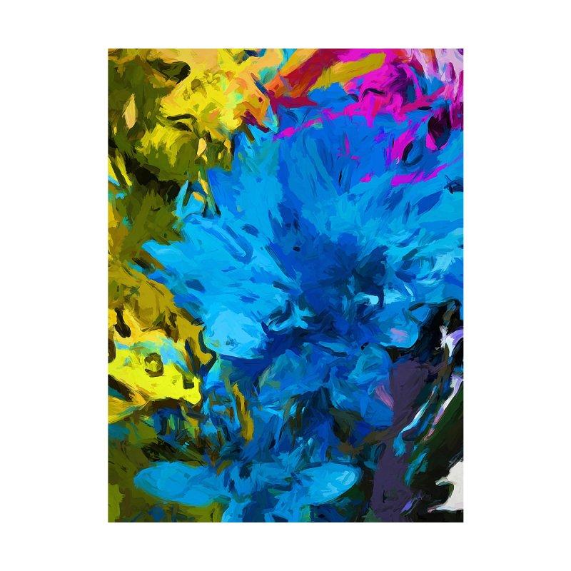 Flower Fantasy Blue Pink Splatter by jackievano's Artist Shop